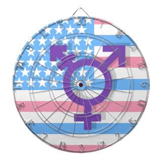 Drapeau de transsexuel jeux de fléchettes