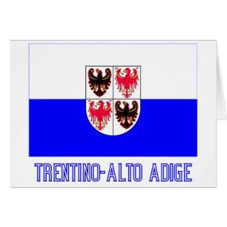 Drapeau de Trentin-Haut-Adige avec le nom Carte De Vœux