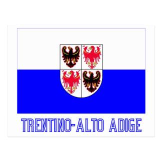 Drapeau de Trentin-Haut-Adige avec le nom Cartes Postales