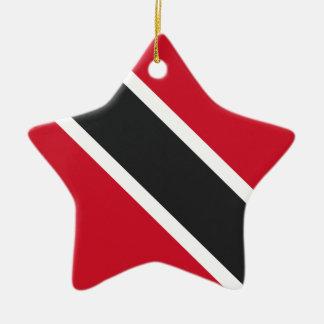 Drapeau de Trinidadtobago Ornement Étoile En Céramique