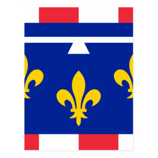 Drapeau de Val de Loire de centre Carte Postale