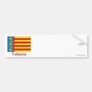 Drapeau de Valence avec le nom Autocollant Pour Voiture
