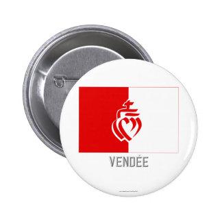 Drapeau de Vendée avec le nom Badges Avec Agrafe