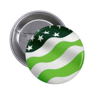 Drapeau de vert (écologie) badge rond 5 cm