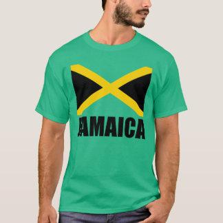 Drapeau de vert noir des textes de la Jamaïque T-shirt