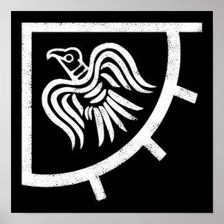 Drapeau de Viking de bannière de Raven Poster