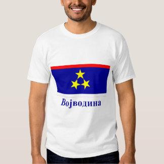 Drapeau de Voïvodine avec le nom dans serbe T-shirts