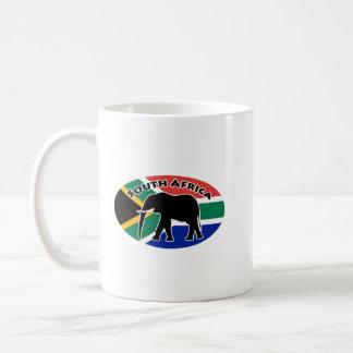 Drapeau d'éléphant de l'Afrique du Sud Mug