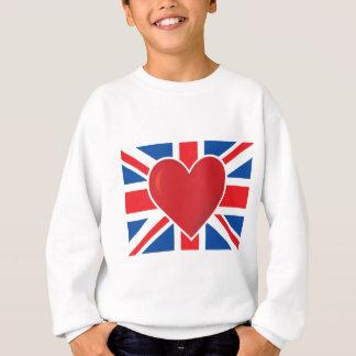 Drapeau des Anglais de coeur Sweatshirt