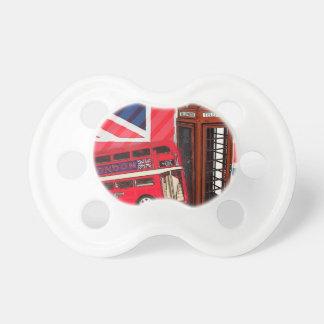 drapeau des anglais de mode de cabine téléphonique sucette pour bébé