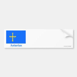 Drapeau des Asturies avec le nom Autocollant Pour Voiture