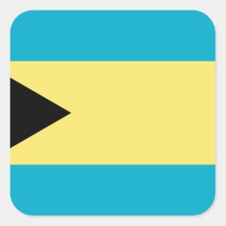 Drapeau des Bahamas Sticker Carré