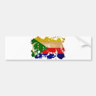 Drapeau des Comores Autocollant De Voiture