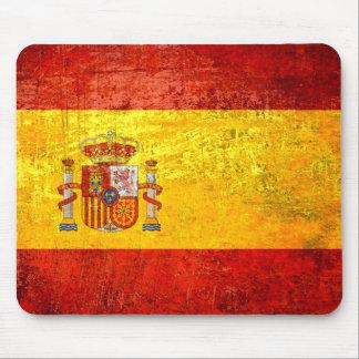 Drapeau des drapeaux de pays grunges de l'Espagne  Tapis De Souris