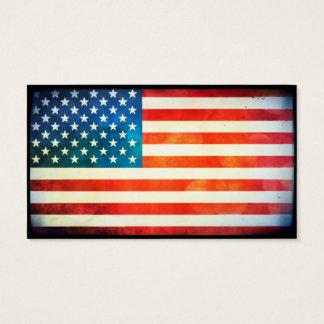 Drapeau des Etats-Unis Cartes De Visite