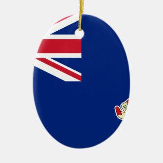 Drapeau des Îles Caïman - Union Jack Ornement Ovale En Céramique