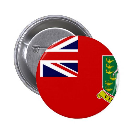 Drapeau des Îles Vierges britanniques Pin's Avec Agrafe