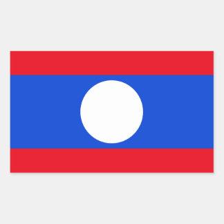 Drapeau des Laotiens Sticker Rectangulaire