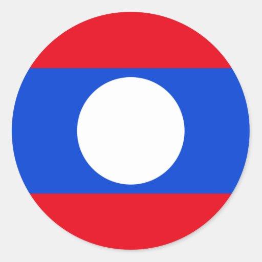Drapeau des Laotiens Autocollant Rond