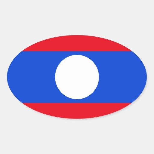Drapeau des Laotiens Autocollants Ovales
