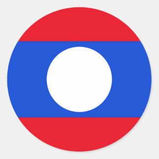 Drapeau des Laotiens Sticker Rond