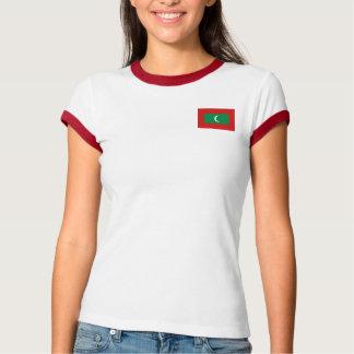 Drapeau des Maldives + T-shirt de carte