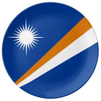Drapeau des Marshall Islands Assiette En Porcelaine