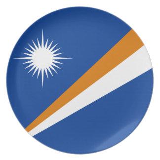 Drapeau des Marshall Islands Assiettes En Mélamine