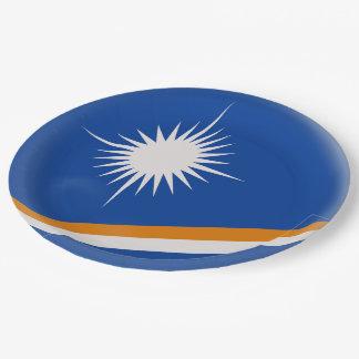 Drapeau des Marshall Islands Assiettes En Papier