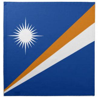 Drapeau des Marshall Islands Serviettes En Tissus