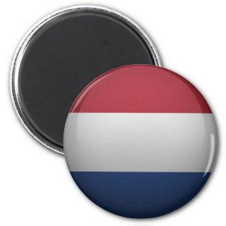 Drapeau des Pays-Bas Magnet Rond 8 Cm