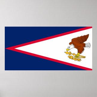 Drapeau des Samoa américaines Posters
