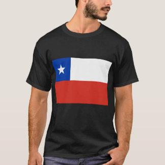 Drapeau des T-shirts du Chili, boutons,