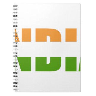 Drapeau des textes de l'INDE Carnet