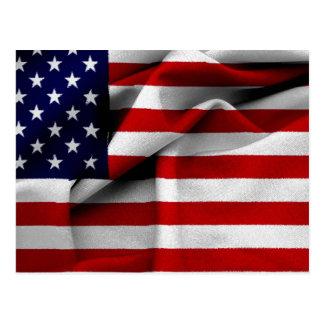 Drapeau des USA d'effet de tissu Carte Postale
