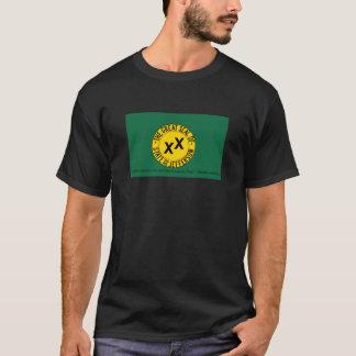 Drapeau d'état de Jefferson avec la citation de T-shirt