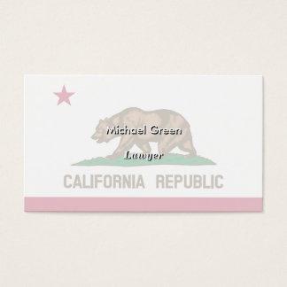 Drapeau d'état de la Californie Cartes De Visite