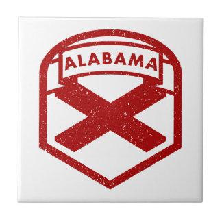 Drapeau d'état de l'Alabama Petit Carreau Carré
