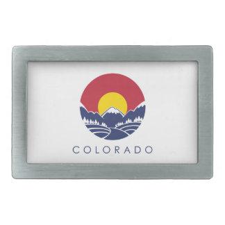Drapeau d'état de montagne rocheuse du Colorado Boucle De Ceinture Rectangulaire
