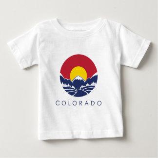 Drapeau d'état de montagne rocheuse du Colorado T-shirt Pour Bébé