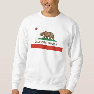 Drapeau d'état de République de la Californie Sweatshirt