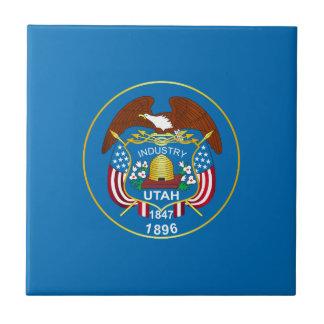Drapeau d'État des Utah Petit Carreau Carré