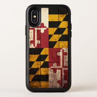 Drapeau d'état du Maryland sur le vieux grain en