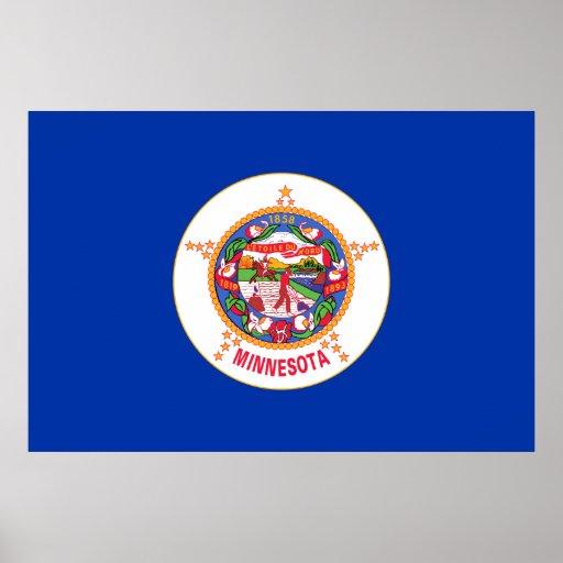 Drapeau d'état du Minnesota Affiches