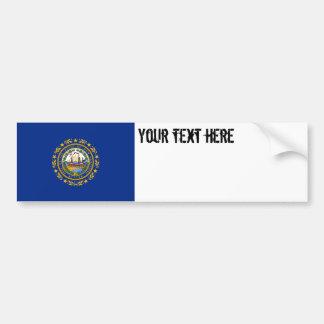 Drapeau d'état du New Hampshire Autocollant De Voiture