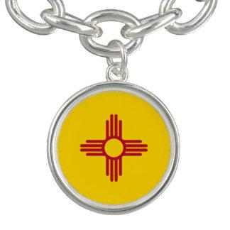 Drapeau d'état du Nouveau Mexique Bracelet Avec Breloques
