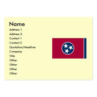Drapeau d'état du Tennessee Carte De Visite Grand Format
