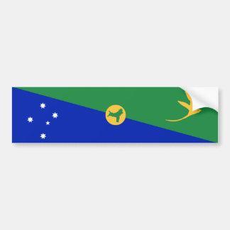 Drapeau d'Île Christmas. Commonwealth de l'Austral Autocollant De Voiture