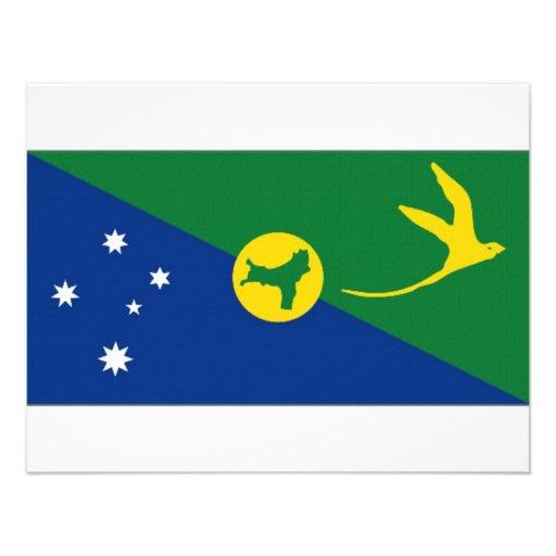 Drapeau d'Île Christmas de l'Australie Faire-part Personnalisé