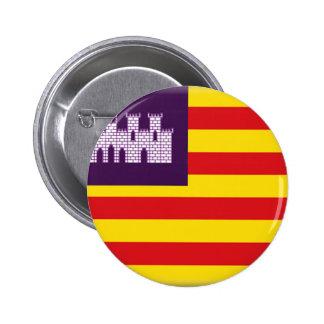 Drapeau d'Îles Baléares (Espagne) Badges Avec Agrafe